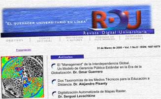 Revista Digital Universitaria: origen y evolución de un experimento digital